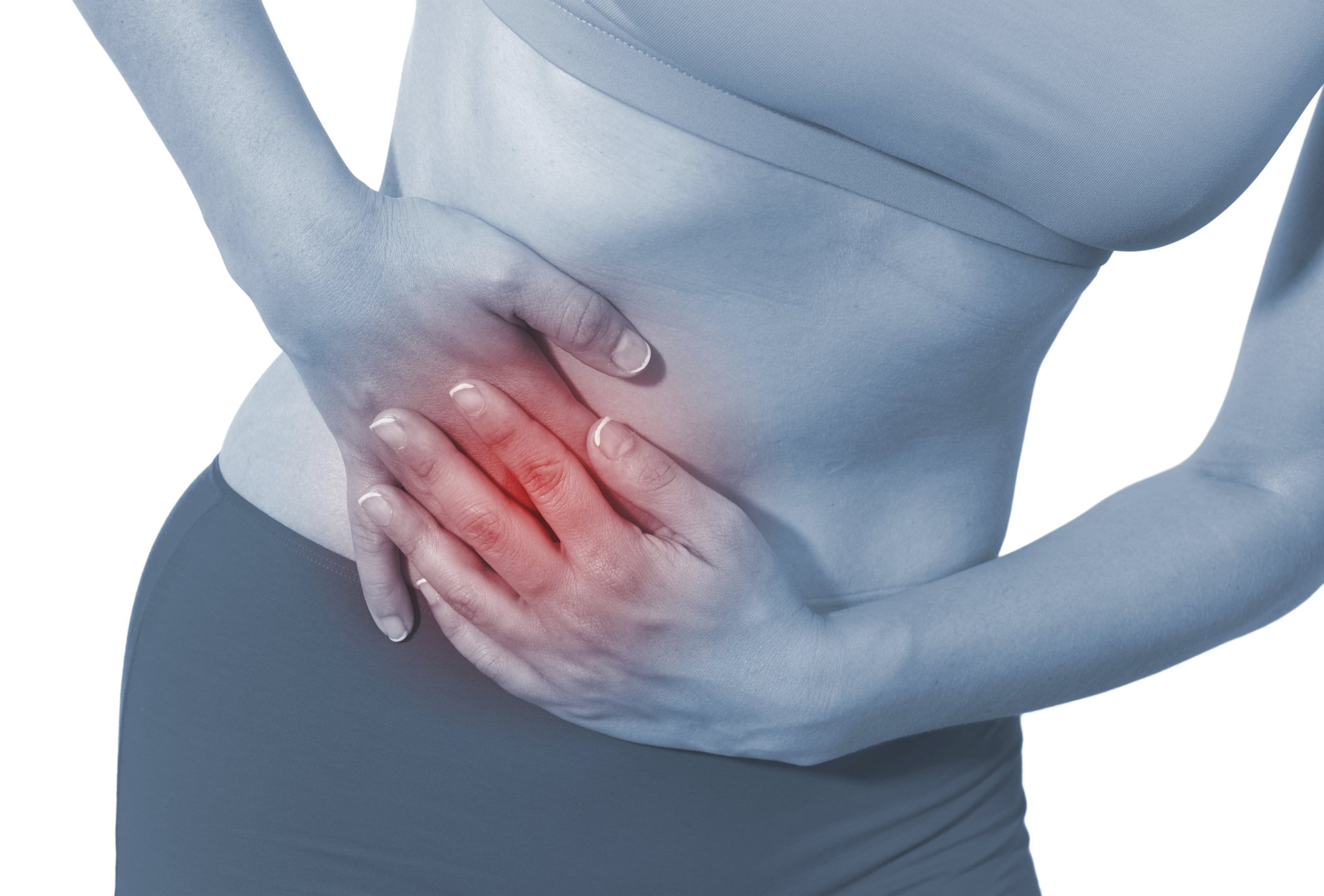Woman Showing Stomach Pain