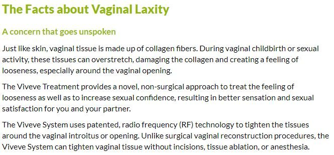 Facts about vaginal laxity
