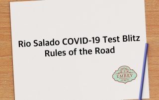 Rio Salado COVID-19 Test Blitz Rules of the Road
