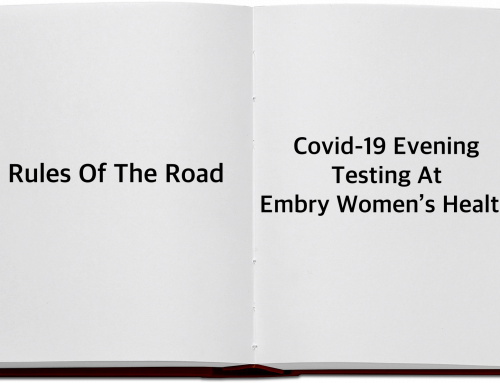 COVID-19 Evening Testing Rules of the Road
