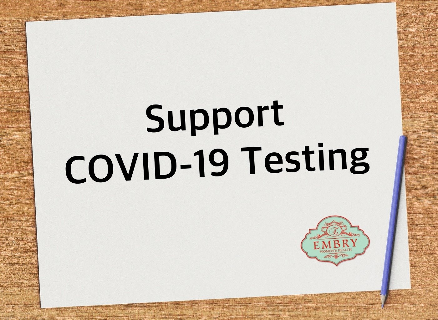Support COVID-19 Testing